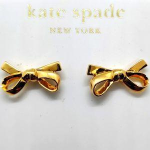 NWT Kate Spade Bow tie earrings 14KGF